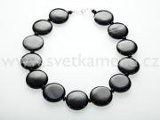 Achát černý náhrdelník