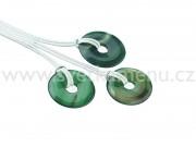 Achát zelený donut
