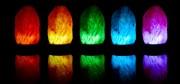Solná lampa s proměnlivým světlem